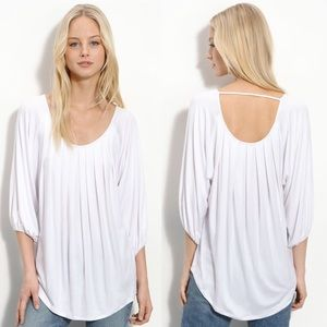 Ella Moss Bliss Ivory Pleated Top Small